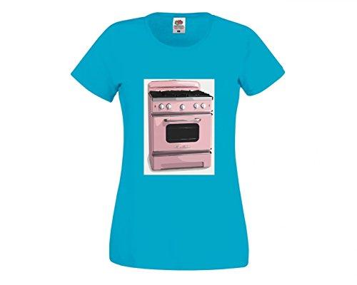 Camiseta de Manga Corta, diseño Retro de hornos y Rosas, Ideal para...