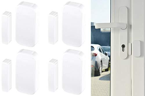 VisorTech Zubehör zu Alarmanlage Komplettset: 4er-Set Funk-Tür- & Fenster-Sensoren für Alarmanlage der XMD-Serie (Wohnmobil Alarmanlagen GSM)