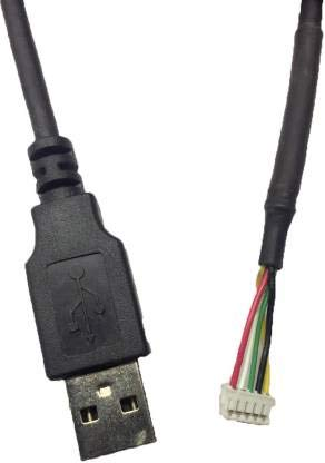 Ranz 202 is Scanner Cable 1.5 m Micro USB Cable (Compatible with Cogent 3M CIS 202 Iris Scanner, Black)