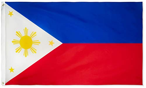 DANF Philippines Flag 3x5 Foot Filipino Philippine National Flags Polyester with Brass Grommets 3 X 5 Ft