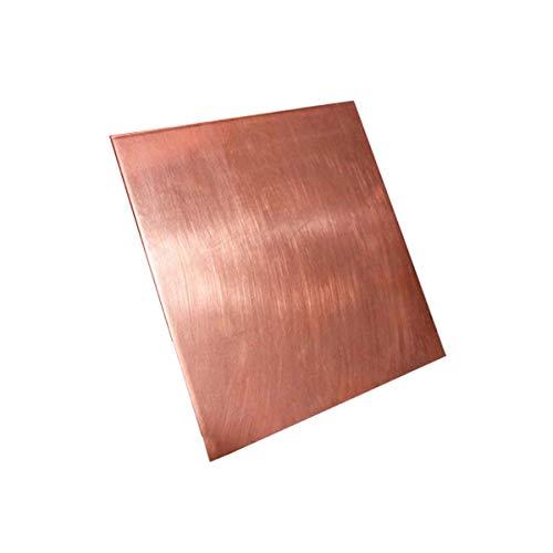 SOFIALXC Kupferblech 99,9% reines Kupfer Metall Kupferblech für Handwerk Luft- und Raumfahrt 55mmx100mm-Thickness:3mm