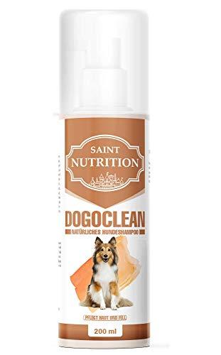 Saint Nutrition Dogoclean Champú para perros – Cuidado para pelo brillante y mejor manejabilidad – Protección natural contra pulgas, garrapatas, ácaros, olor + picor – también adecuado para cachorros