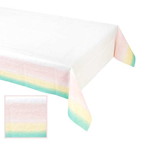 Talking Tables We Heart Pastels, Paper Table Cover, Multi-colour, 180 x 120cm