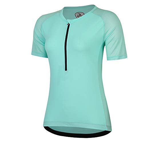 beroy Women Persuit Tri Tank Top,Tristhlon Top Cycling Shorts Jerseys(XXXL Green)