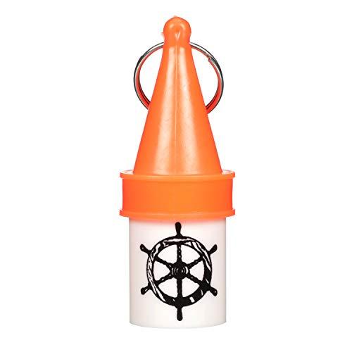 Attwood 11875-7 Floating Key Buoy Key Chain, 1 7/64 x 2 51/64 x 5/16 Inch