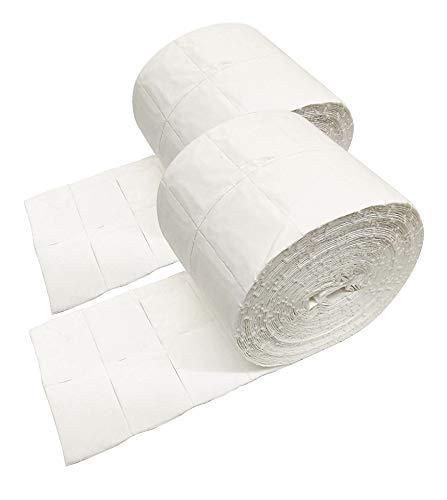 Crisnails® Celulosas para Uñas 2 x Rollo de 500 uds./1000 Celulosa de Alta Calidad Precortadas/Ideal para uñas