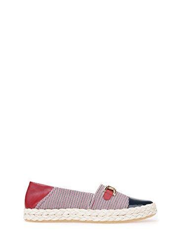 Geox Damen Espadrilles D Modesty Navy/White/Red D8229E 0AWHH C4181 (35)