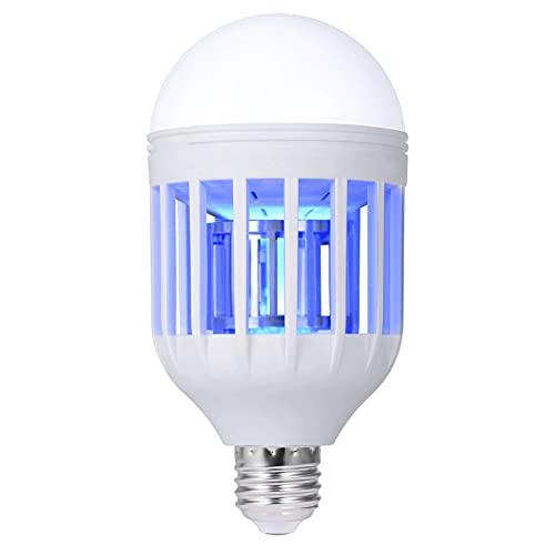 GLOUE Bug Zapper Light Bulb, 2 in 1 Mosquito Killer Lamp UV Led Electronic Insect & Fly Killer