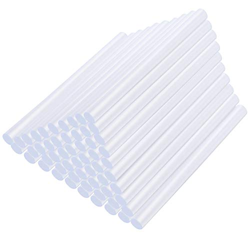 KEESIN Stick per Colla a Caldo, 11mm x 100mm, per 60W Colla a Colla, fai da te Art Craft, confezione da 50 Pezzi