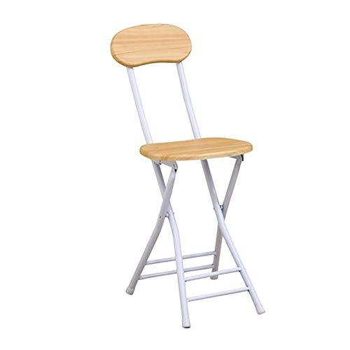 QIDI Chaise Pliante Chair Chaise de Formation Chair Chaise d'ordinateur Chair Chaise de Salle à Manger Tabouret Pliant Wood Bois Massif Simple Moderne Facile à Transporter Pliable - Deux Piles