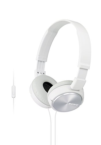 Sony MDR-ZX310AP - Cuffie on-ear con microfono, Bianco
