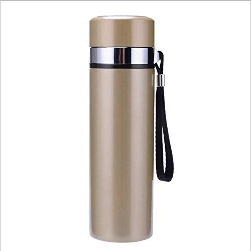 ruisibnn Termos fles van roestvrij staal waterfles sportfles vacuümfles geschikt voor kinderen school buiten (koffie 450ml)
