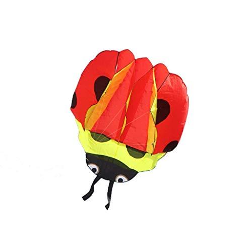 AWCPP Cometas Tridimensionales, Forma de Ladybug Al Aire Libre Kites de Colores Suaves para Niños Parque de Animales Kites Juguete, 170 * 143 cm,C