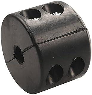 CROSYO 1PC Black Universal Caoutchouc de Caoutchouc Câble Câble Câble Câblée Ligne d'épargne pour Câble Crochet Bouchon po...