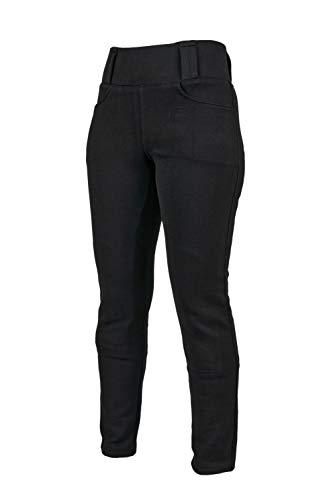 GREAT BIKERS GEAR - Leggings para motocicleta con forro de Kevlar para mujer, con armadura CE extraíble, (pierna corta)
