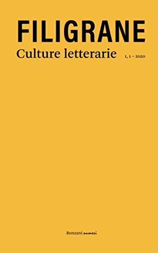 Filigrane. Culture letterarie: Dialetti in poesia, I, 1, 2020: Vol. 1
