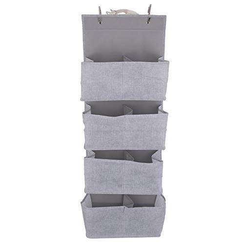 ORION Hängeorganizer Organizer für Schrank Bad Garderobe aus Stoff 4 Fächer für Handtücher Unterwäsche Socken faltbar - Grau