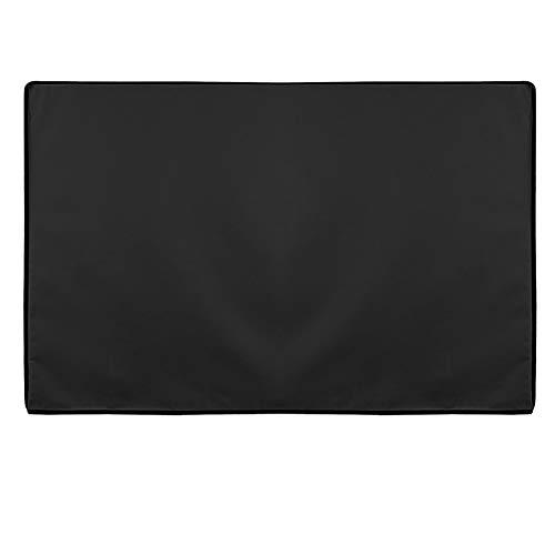 YNES Cubierta TV, TV Inicio Conjunto Bolso de la protección, la Caja Protectora de Tela Oxford Transpirable, de Patio al Aire Libre (Color : Black, Size : 46.5×29×5in)