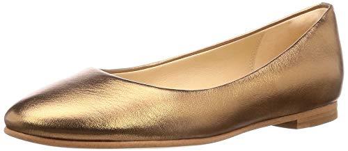 Clarks Damen Grace Piper Geschlossene Ballerinas, Silber (Bronze Metallic), 39.5 EU