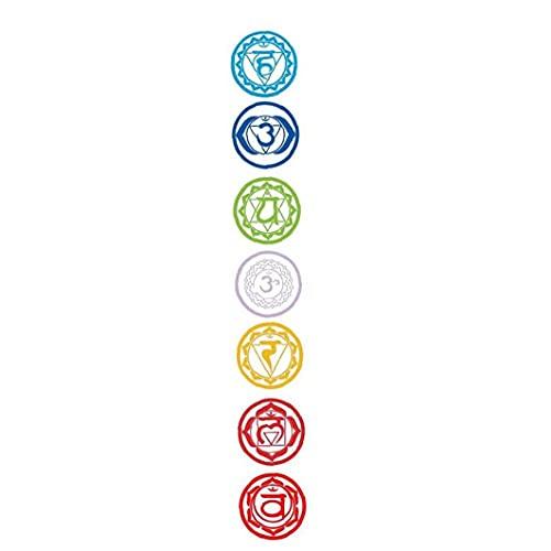 PiniceCore 7pcs Meditación De PVC Chakras Mandala De La Yoga Pegatinas De Pared Decoración Adhesivos