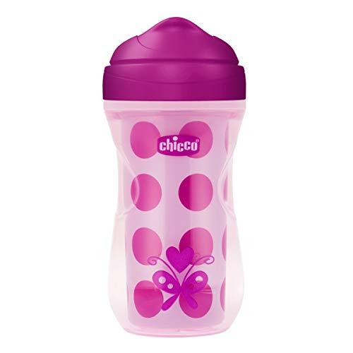 Chicco Termo Active - Vaso con boquilla fina que mantiene la temperatura, 14m+, color rosa (modelos surtidos)
