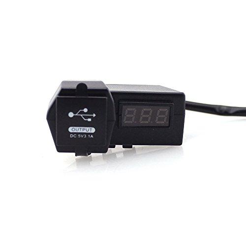 12-24V voiture moto numérique voltmètre double chargeur USB affichage LED rouge