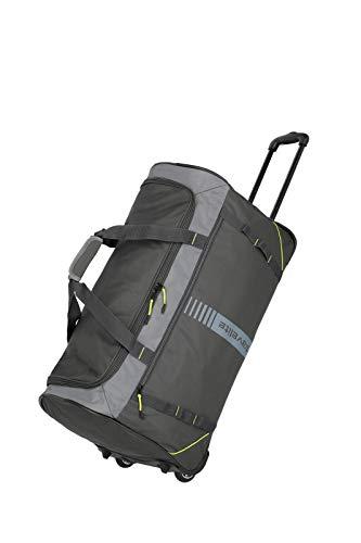 travelite 2-Rad Trolley Reisetasche Größe L, Gepäck Serie BASICS ACTIVE: Weichgepäck Reisetasche mit Rollen im frischen Design, 096281-04, 71 cm, 86 Liter, anthrazit/lemon