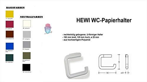 HEWI Heinrich Wilke WC-Papierhalter Serie 477 (U-förmiger Halter, Polyamid, verdeckte Verschraubung) 477.21.100 (90 tiefschwarz)