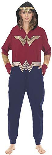 Underboss Unisex Adult Wonder Woman Union Suit Pajama With Drop Seat, Large