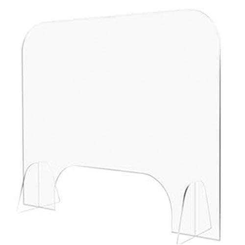 Vitila Transparent Plexiglas Tresen,50x60cm / 19.5x23.4in,Acryl Spuckschutz für Transaktionsfenster Isolationsschilde