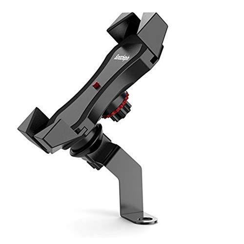 Xiaomu Soporte de teléfono móvil para bicicleta o motocicleta, giratorio 360°, universal, para smartphone de 4 a 6,5 pulgadas, con carga