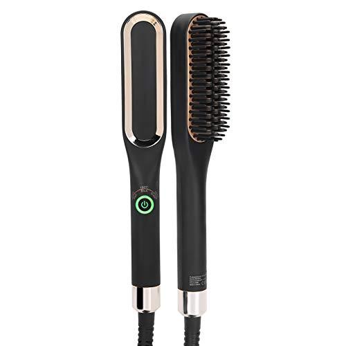 Cepillo alisador de barba de herramienta de peinado de 100‑240 V para viajes para hombres o mujeres Suministros para el hogar(European plug)