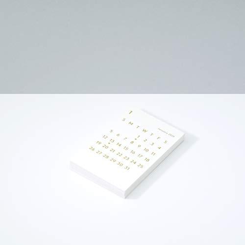 JACKAL クララ カレンダー リフィル 2020 ホワイト 卓上カレンダー