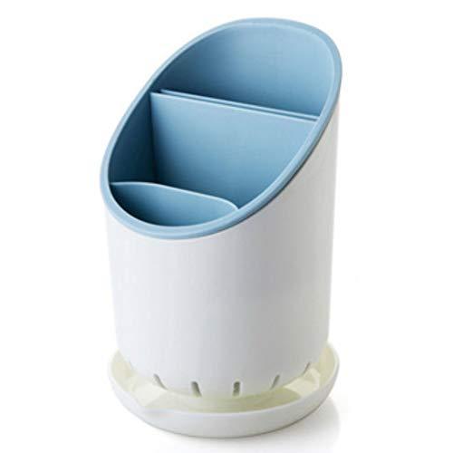 Ghaike Estante de almacenamiento para cubiertos, tenedor de cocina para el hogar, palillos, cuchara, escurridor, diseño de compartimento, transpirable y resistente a la humedad