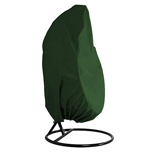 AXspeed Funda para silla colgante de patio al aire libre resistente al agua para huevos, protector a prueba de polvo, para sillón oscilante verde
