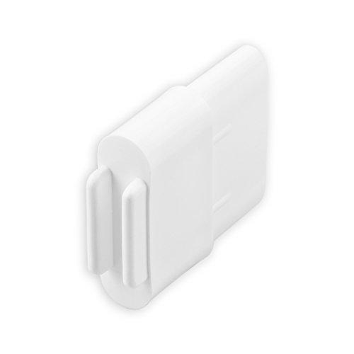 DIWARO® Endstabgleiter | Größe 30mm x 14mm | Farbe braun, grau oder weiß | Material Kunststoff | für Endleiste, Endschiene, Winkelendschiene | Rolladenpanzer, Jalousie, Rollo (weiß)