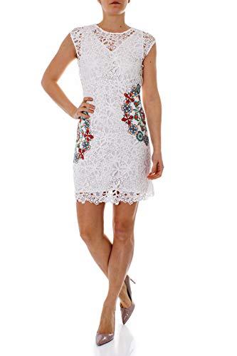 Desigual Kurzes Kleid Damen 36 Weiß