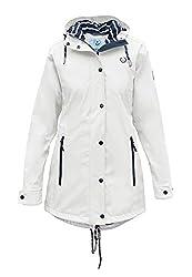 MADSea Damen Regenmantel Friesennerz Weiß, Farbe:weiß, Größe:36