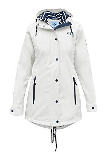 MADSea Damen Regenmantel Friesennerz Weiß, Farbe:weiß, Größe:38