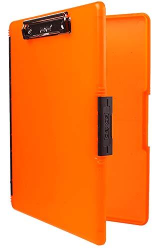 Dexas 3517-804 Slimcase 2 Storage Clipboard with Side Opening, Neon Orange