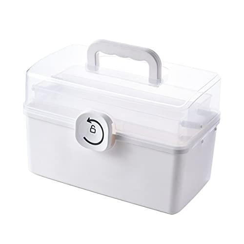 AnXiongStore Caja de Almacenamiento médica Armario de Pecho Hogar de Tres Capas de Gran Capacidad Portátil de atención médica Hogar