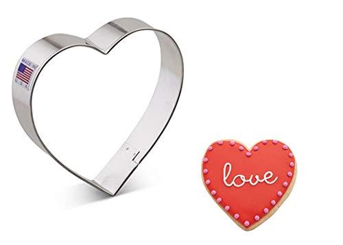 Ann Clark Cookie Cutters Cortador de galletas corazón - 10,2 cm - Acero fabricado en EE.UU.