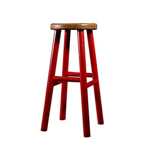 Barkruk met kleurrijke armleuningen in vintage-stijl, van Amerikaanse landelijke stijl. Rood