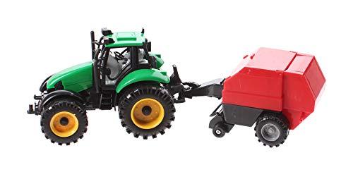 JONOTOYS Tractor con prensa de juanetes, 29 cm, color verde