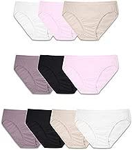 Fruit of the Loom Women's Tag Free Cotton Bikini Panties, 10 Pack - Body Tones, 5