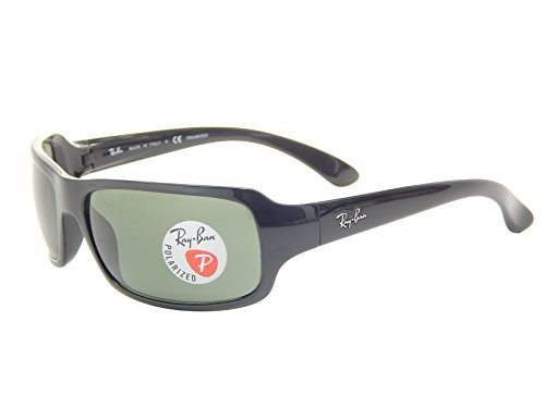 New Ray Ban RB4075 601/58 Glossy Black/G-15 XLT Polarized 61mm Sunglasses