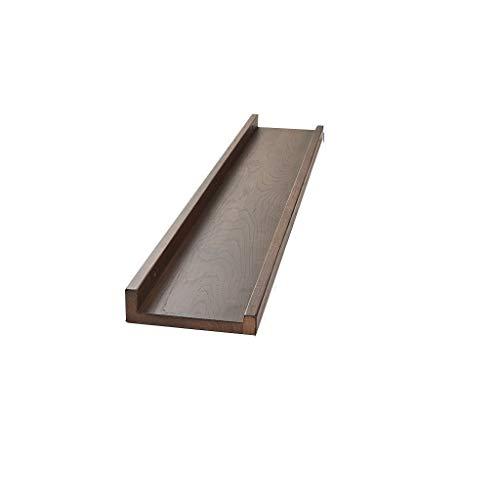 Zwevende planken van massief hout, zonder boren, woonkamer, tv-achtergrond, hangend aan de muur of in de slaapkamer.