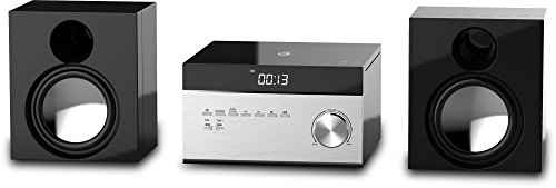 GPX HC225B Stereo Home Music System with CD Player & AM/FM Tuner, Remote Control