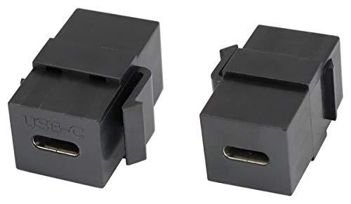 AAOTOKK 3.1 USB C Jack Keystone Adapter Typ C USB 3.1 Weiblich auf Weiblich Keystone...
