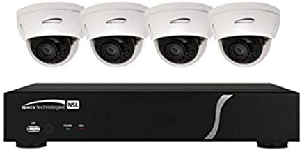 Speco ZIPL4D1 4-Channel Plug & Play NVR and IP Kit, 4 Dome Cameras, 1TB (ZIPL4D1)